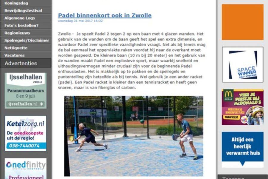 Padel Zwolle op Weblog Zwolle
